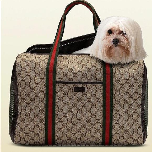 712f55b648efca Gucci Bags | Beigeebony Gg Canvas Dog Carrier | Poshmark